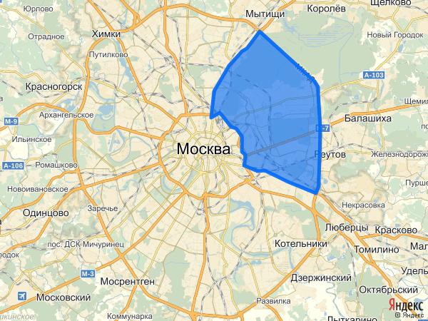 границы восточного округа москвы где